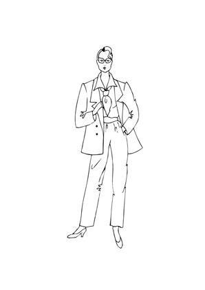 ausmalbild model im anzug zum kostenlosen ausdrucken und ausmalen. ausmalbilder | malvorlagen