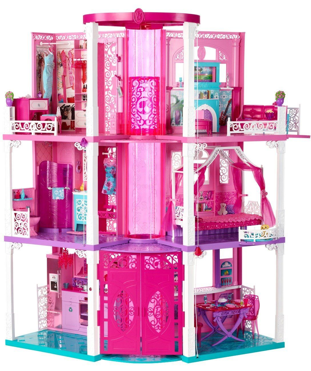 Barbie deluxe furniture stovetop to tabletop kitchen doll target - Barbie 3 Story Dream Dollhouse