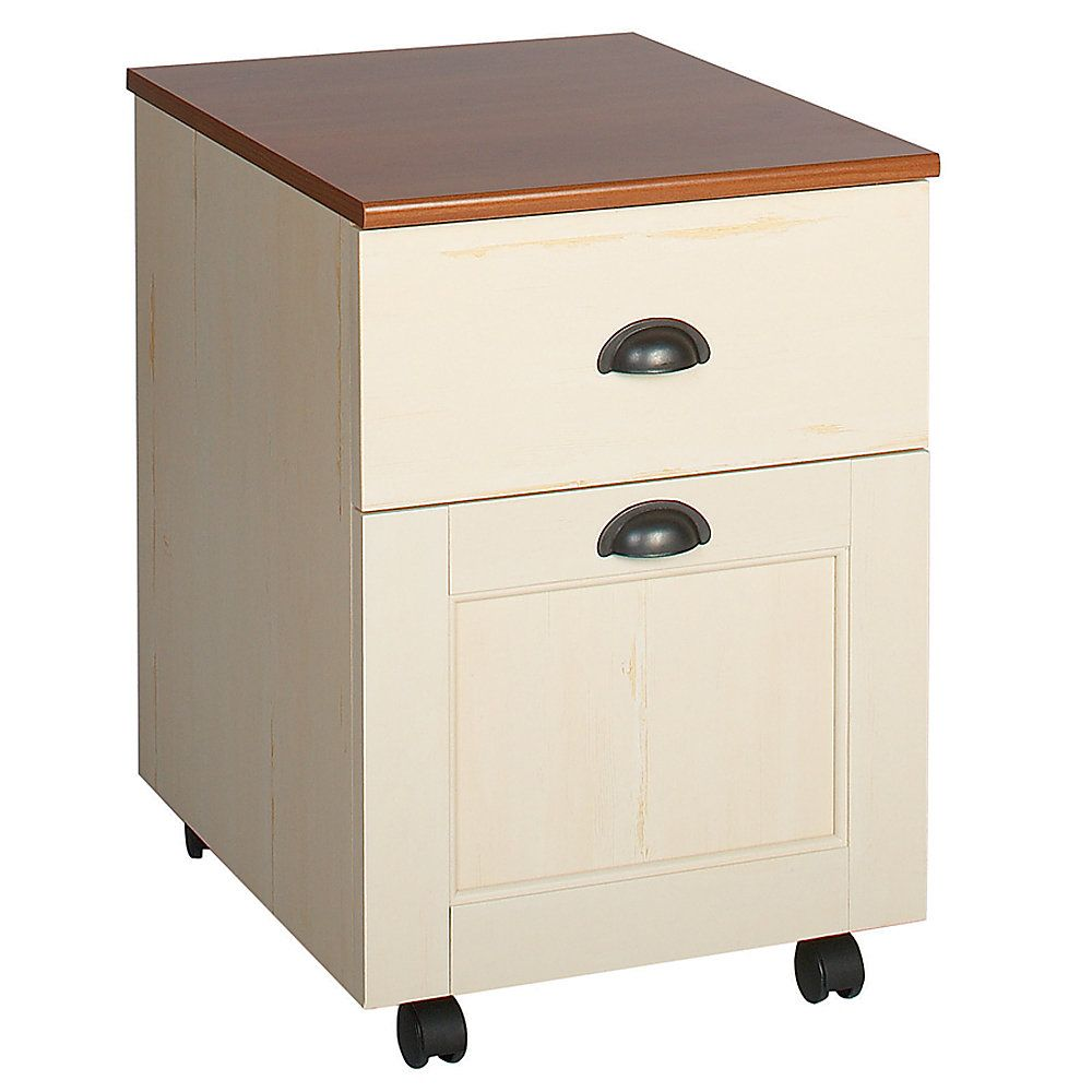 Christopher Lowell Shore Mini Solutions Rolling Pedestal File 22 1 4 H X 15 1 2 W X 19 1 2 D Antique White Filing Cabinet Furniture Collections Cabinet Decor