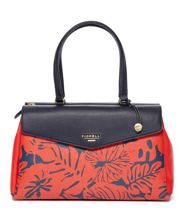 Another great find on #zulily! Red Leaf Stitch Double-Handle Envelope Satchel #zulilyfinds