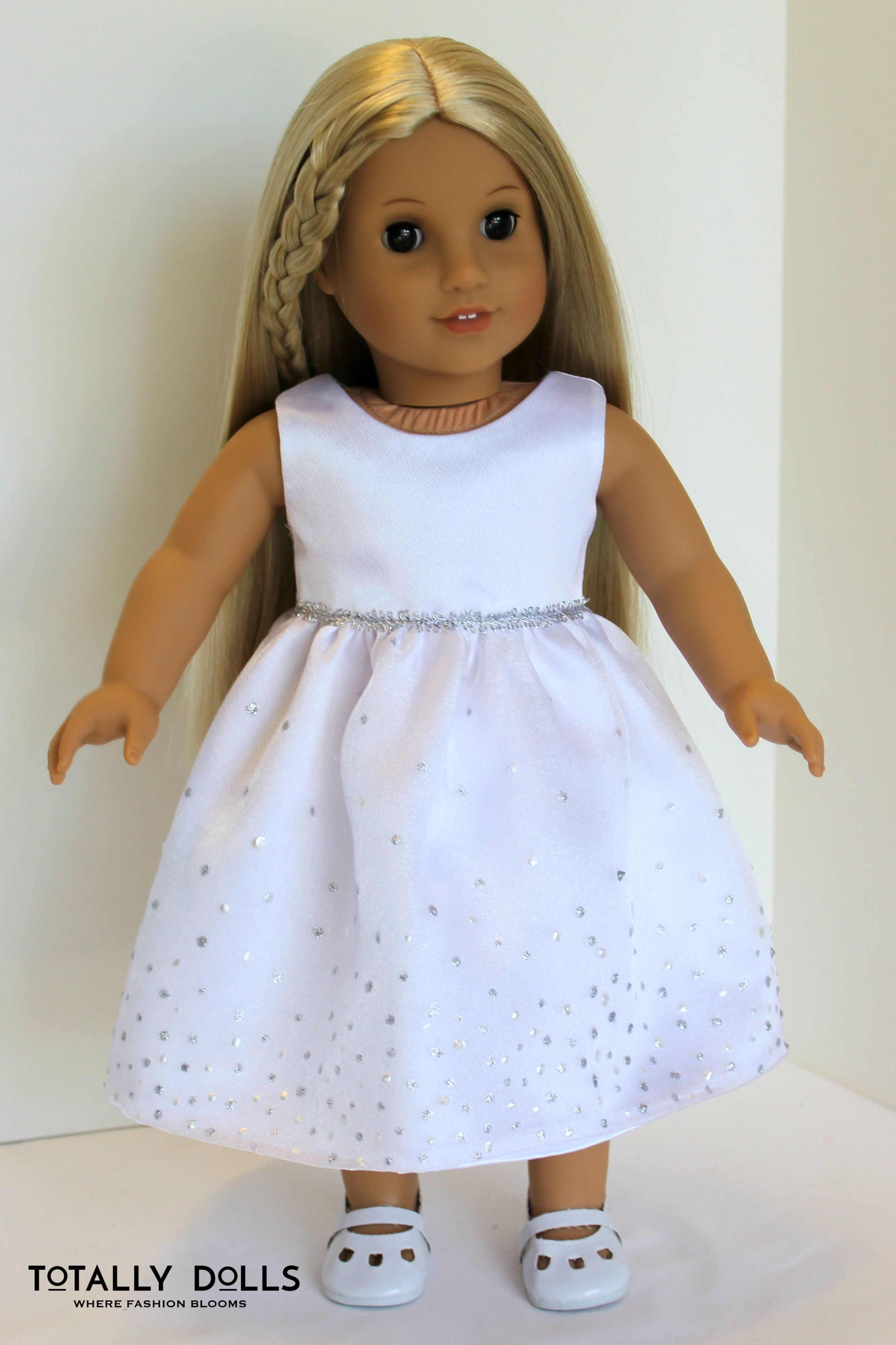 Custom American Girl Doll Clothing First Communion Dress Replica To Fit 18 Inch Dolls Ask Us About Our Cust Doll Clothes Clothes Custom American Girl Dolls