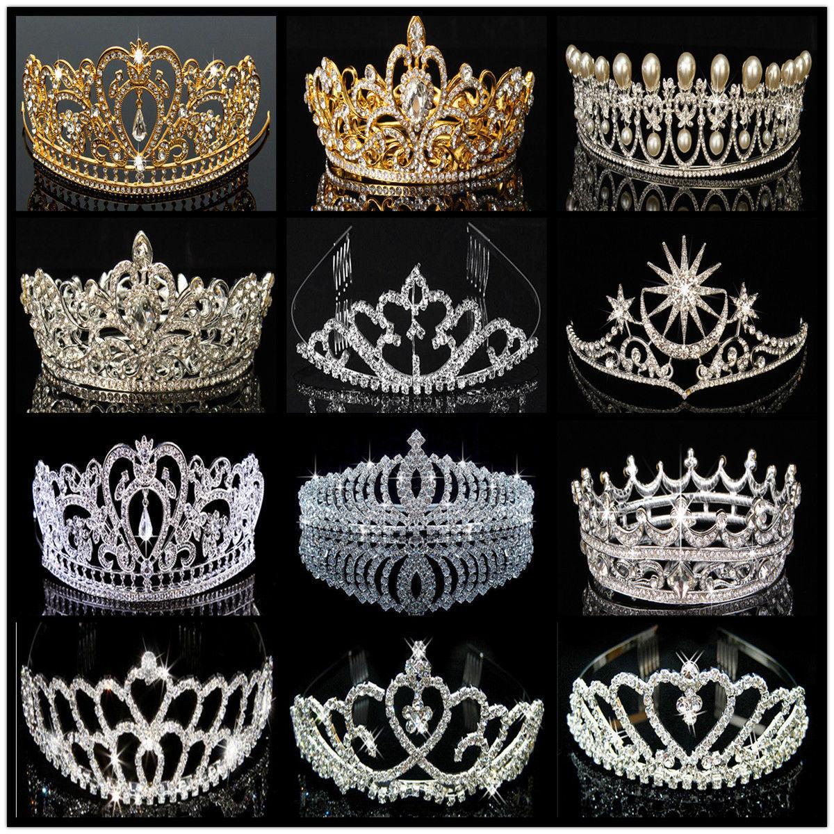 Wedding Bridesmaid Headpiece Bridal Rhinestone Hair Tiara Crown Party HeadbanD/_N