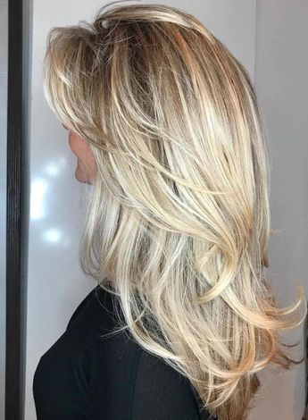 50 Cute And Effortless Long Layered Haircuts With Bangs Blonde