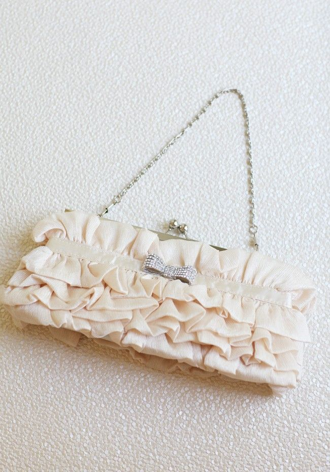 Fluttering Joy Clutch In Beige | Modern Vintage Accessories | Modern Vintage Bridal