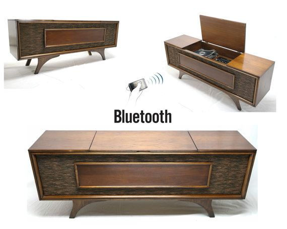 stereo cabinet vintage vintage mid century modern hi fi stereo console bluetooth 26792