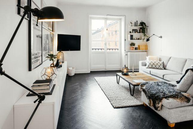 Woonkamer met stoere Scandinavische inrichting | Living rooms ...