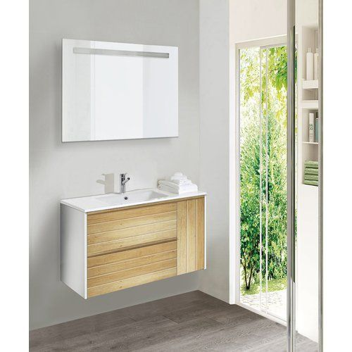 Marley 3 Piece Bathroom Furniture Set With Led Mirror Belfry
