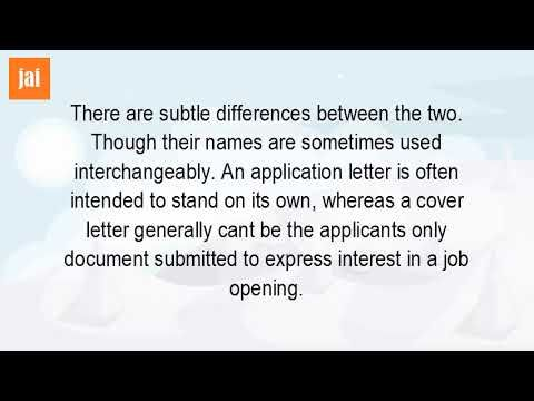 Video What Is The Difference Between An Application And A Letter