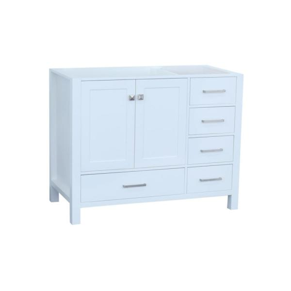 Ariel Cambridge 42 in. W Vanity Cabinet Only in White ...