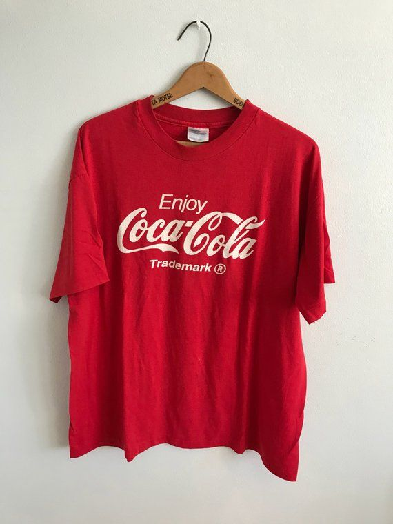 5c2d1a56ef Vintage Coca Cola T-Shirt Mens Womens XL Extra Large / Red / Coke /  Coca-Cola Tee / CocaCola Shirt /