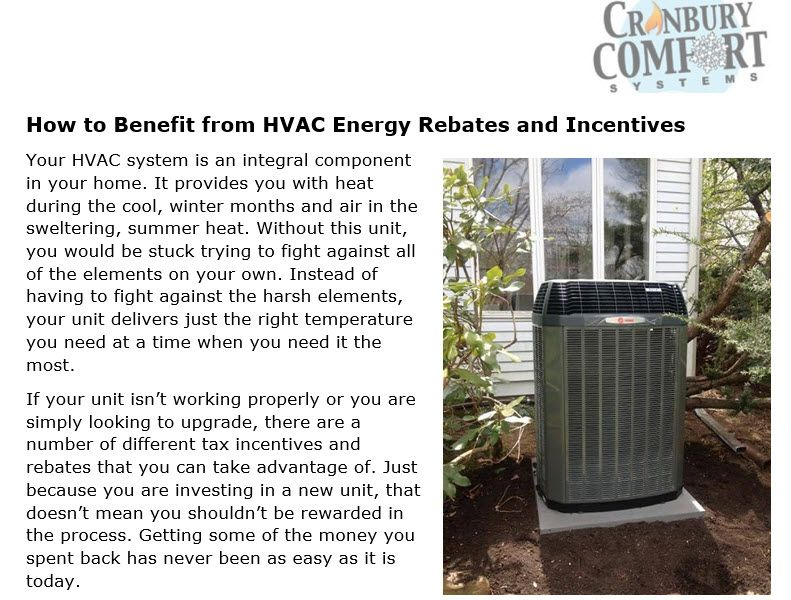How to Benefit from HVAC Energy Rebates and Incentives