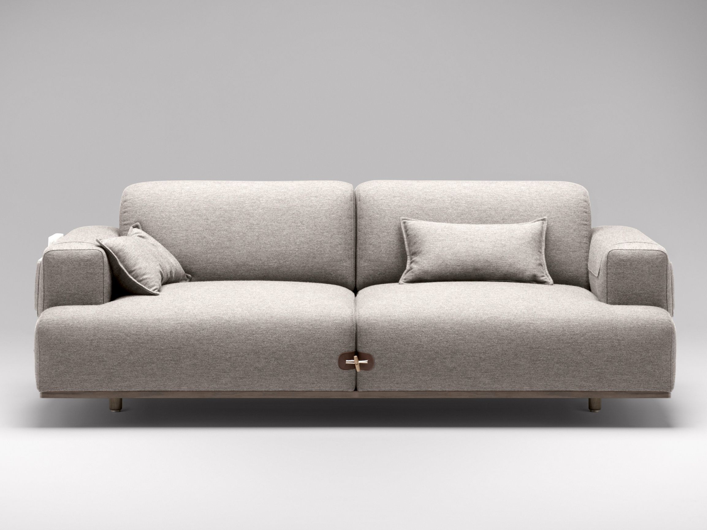 Upholstered fabric sofa with chaise longue Duffle Collection by
