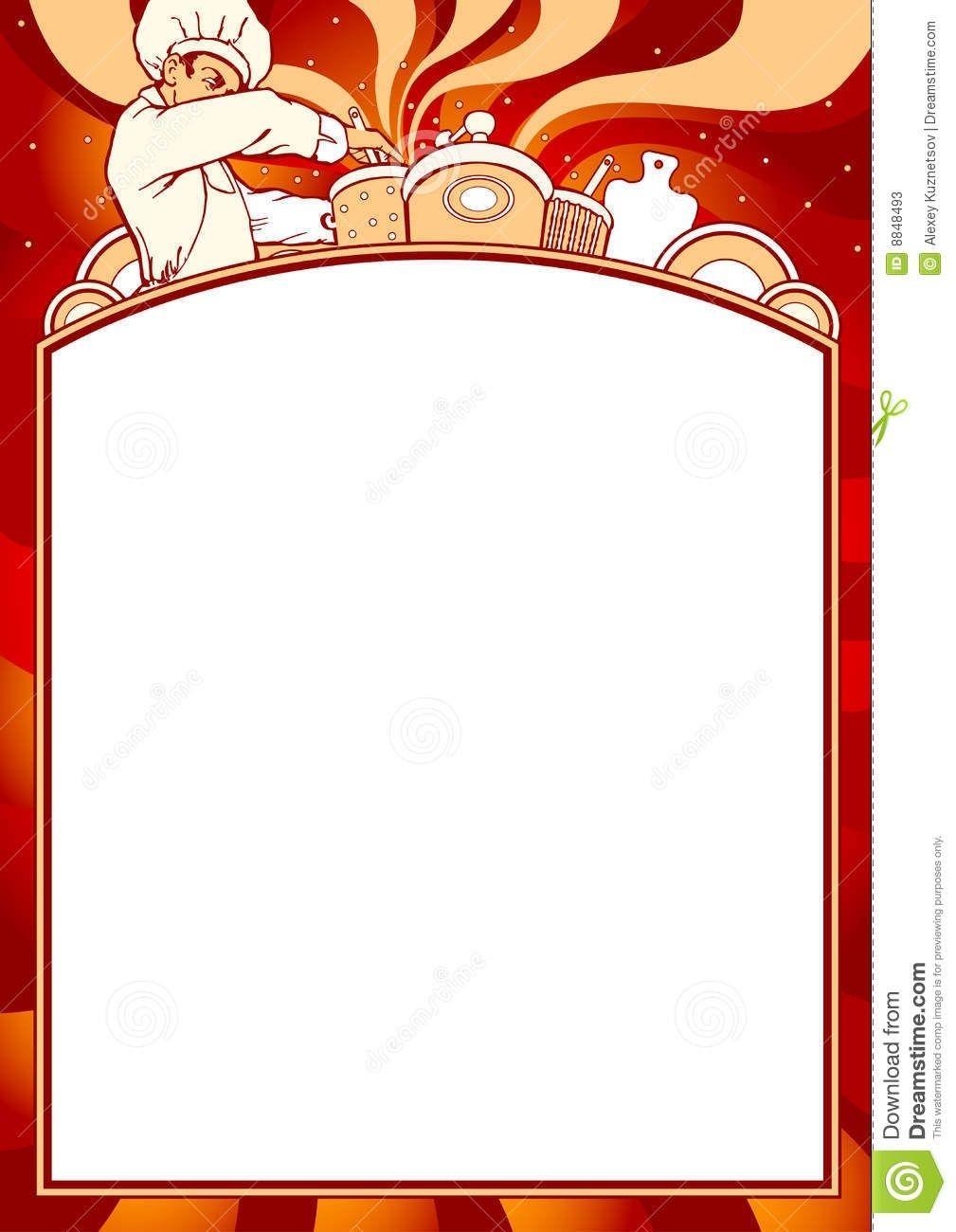 Blank Of Menu Stock Vector Illustration Of Message Invitation Pertaining To Blank Menu Clipart19968 Menu Template Menu Design Template Restaurant Menu Card