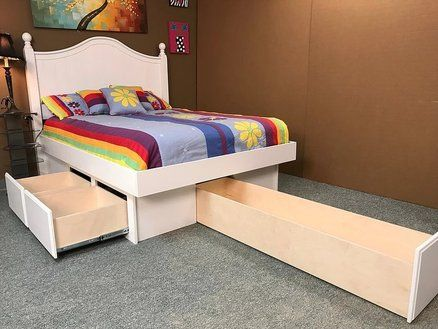 White Platform Bed | 60 Inch Drawer | Eduardos madera | Pinterest ...