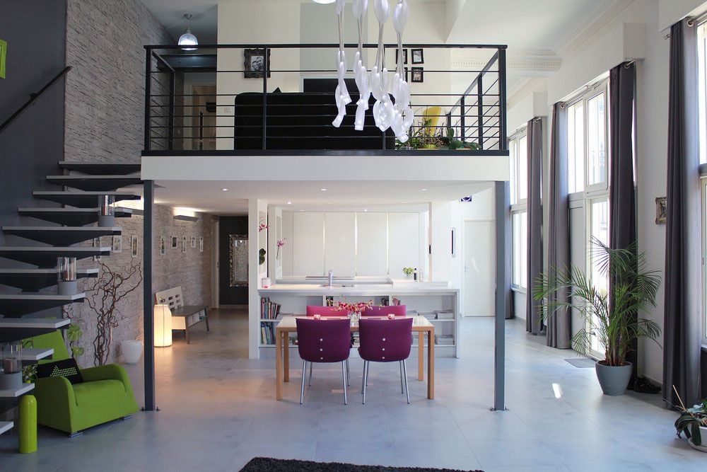 located in groslay a commune in the 15 km north of paris france this former convent was converted into a square foot loftlike apartment