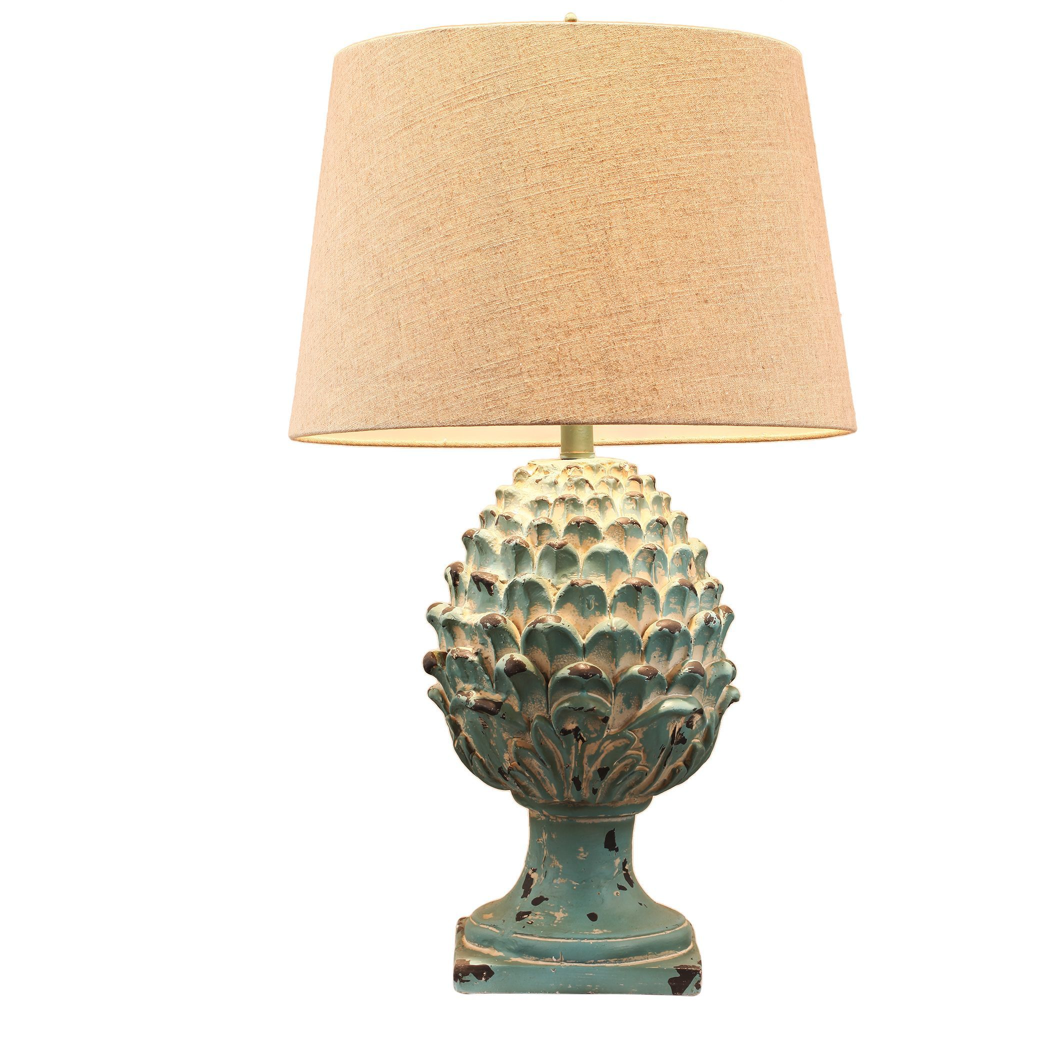 Au0026B Home Artichoke Ceramic Finial Table Lamp