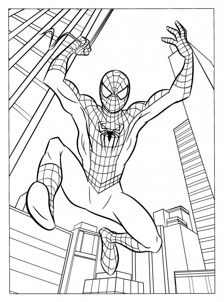 Coloring Pages of Spiderman | TEEN color pages | Pinterest
