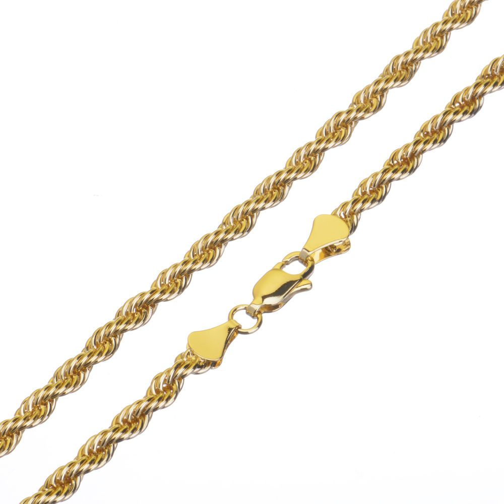 Men S Women S 14k Yellow Gold Plated 2 5 Mm Thin Short Rope Chain Necklace 20 643415318423 Ebay Gold Chains For Men Chains For Men Mens Chain Necklace