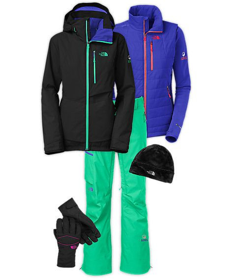 The North Face Women s Skiing Outfit - My ski coat (black) and ski pants! ac220604d
