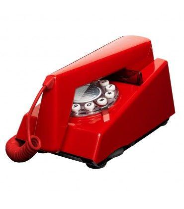 Téléphone rétro rouge 70's Trim Phone