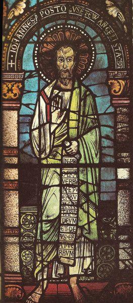 "Vitrail ""Saint Jean"" - Cathédrale Notre-Dame de Strasbourg - Bas-Rhin (France)"