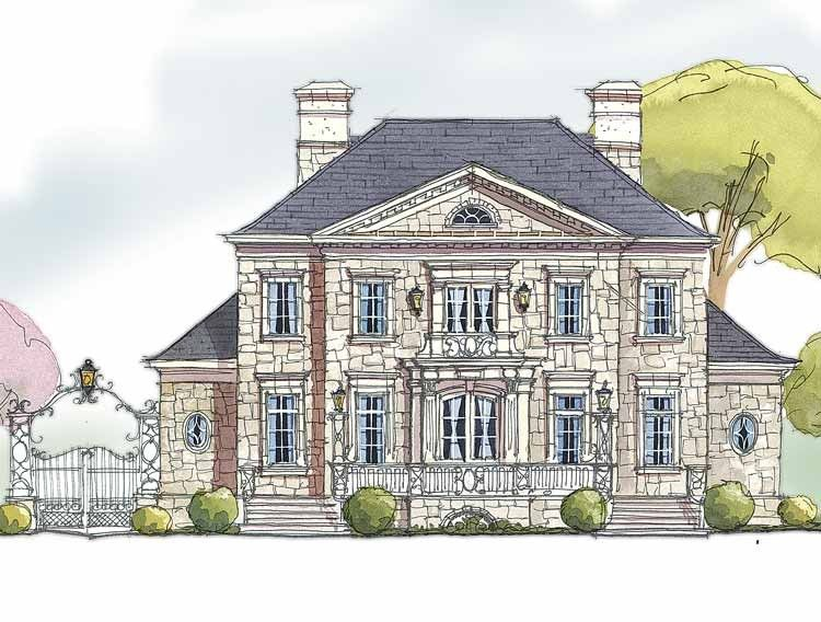 Country Style House Plan 5 Beds 4 5 Baths 5971 Sq Ft Plan 429 329 English Country House Plans Country Style House Plans French Country House