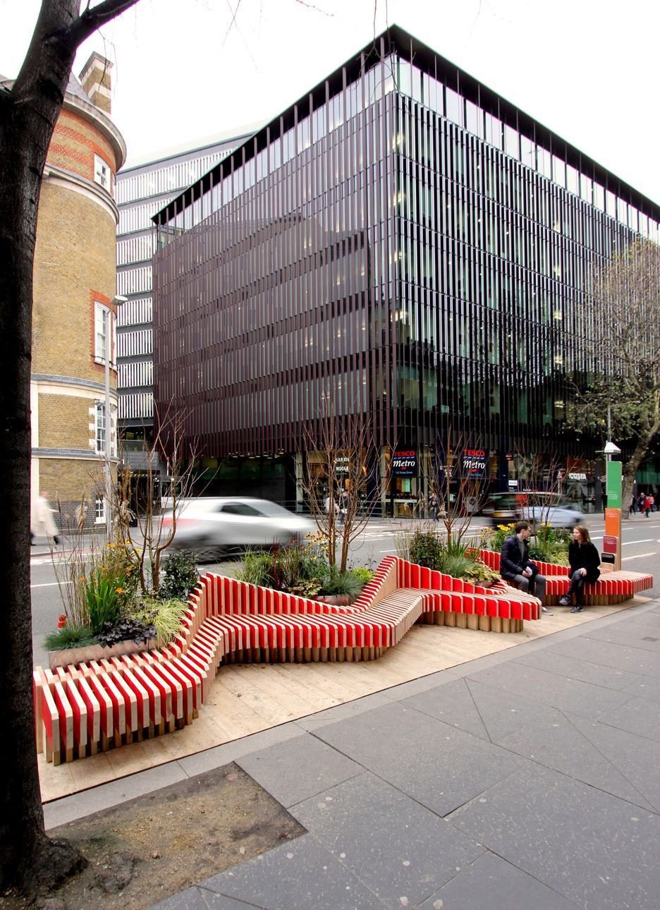 Parklet by WMB Studio adds greenery to London's streets ...