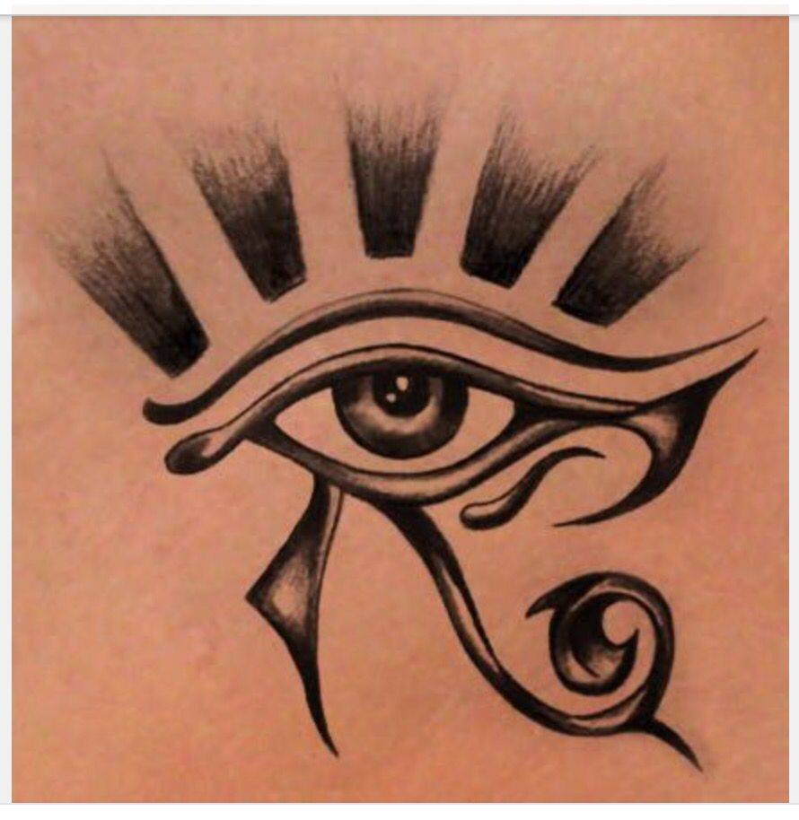 Eye or ra horus | Horus tattoo, Egypt tattoo, Egyptian eye tattoos