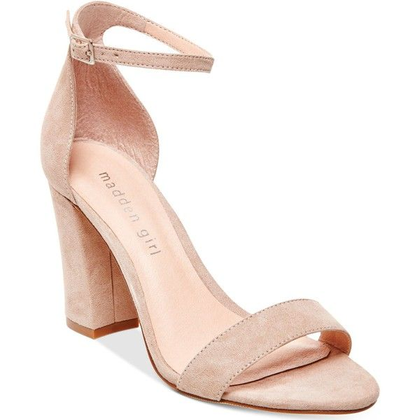 4c54d977235 Madden Girl Bella Two-Piece Block Heel Sandals ($49) ❤ liked on ...