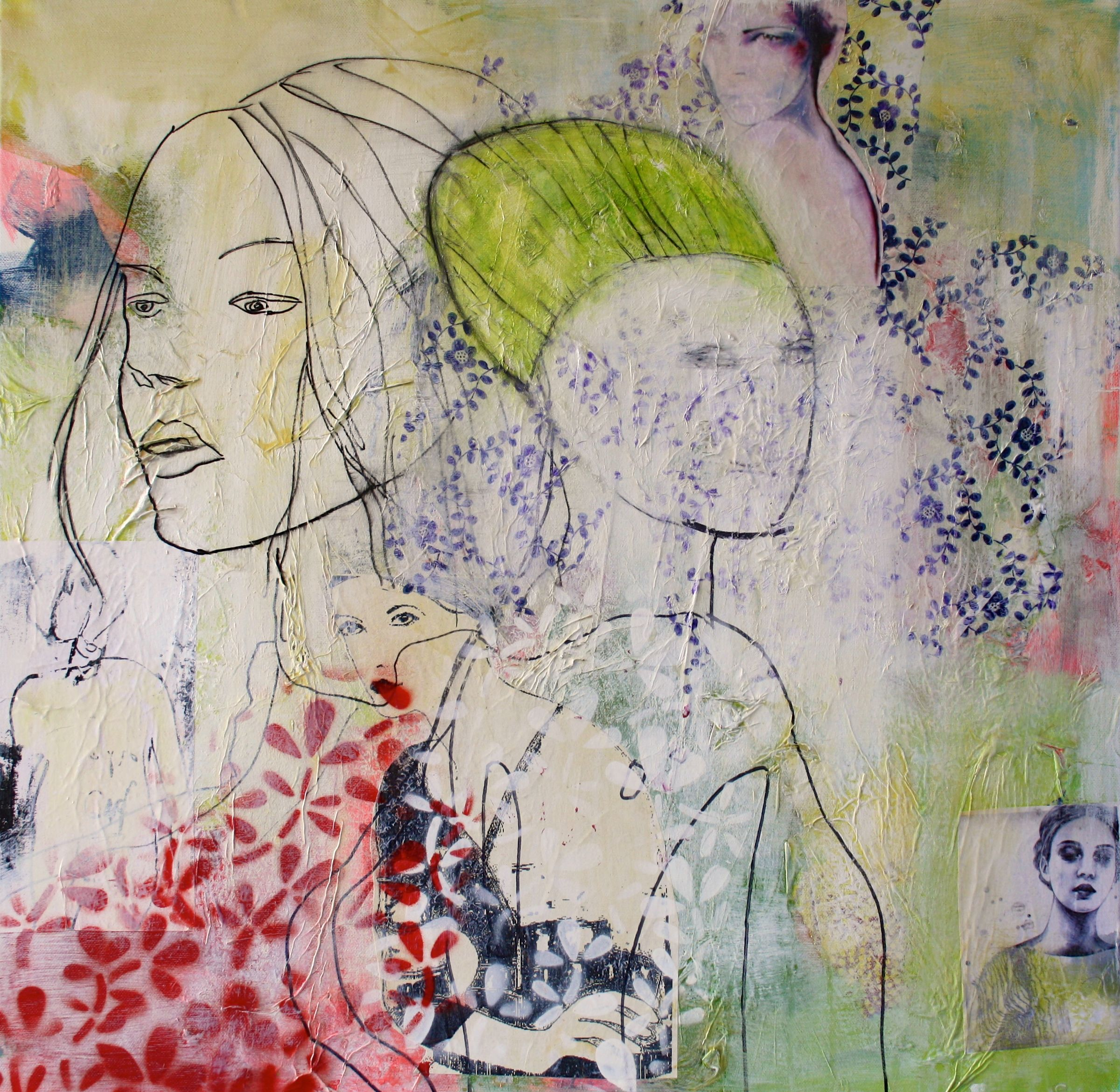 Mennesker Akryl Oilpastel Collage Papir Serigrafitryk Kul Blyant Tegning Maleri Galleri Www Rieskunstgal Portraet Tegning Abstrakte Malerier Kunsttryk