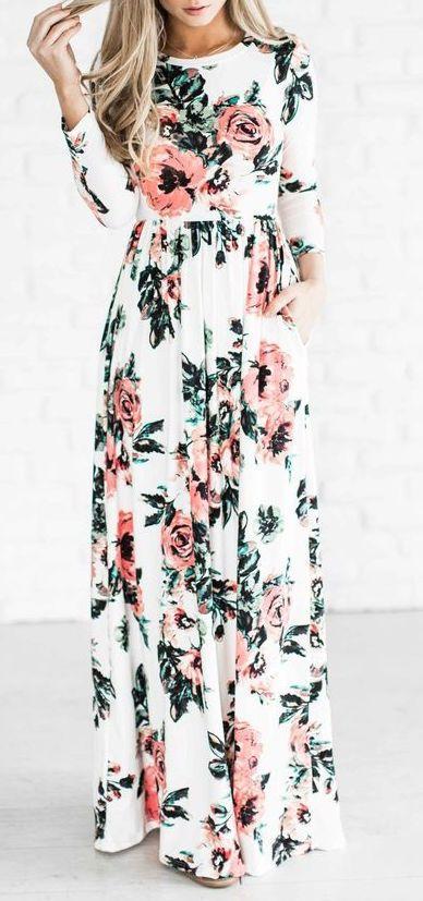 af70c0fca8 summer #outfits / floral print dress | style | Pinterest | Floral ...