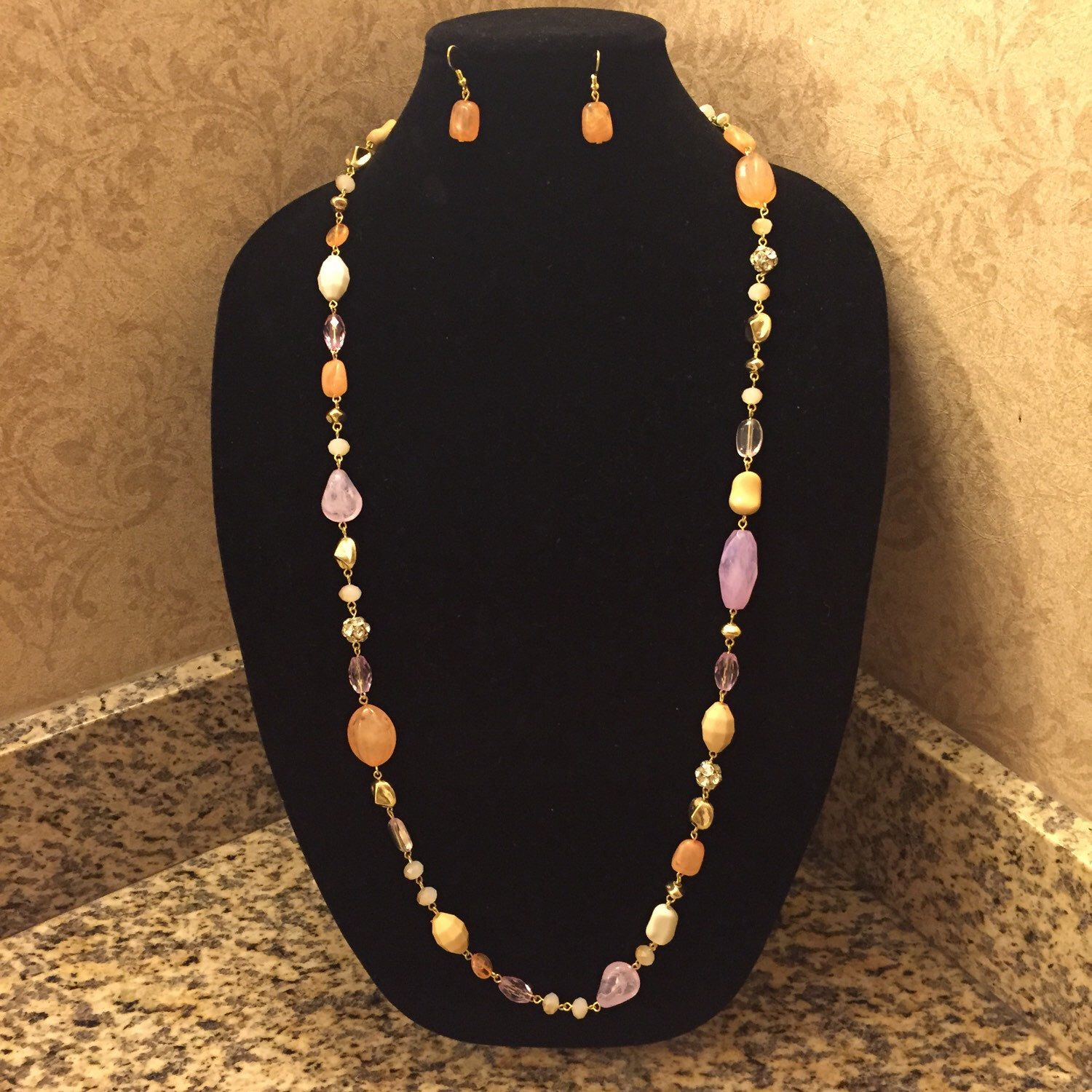 A personal favorite from my Etsy shop https://www.etsy.com/listing/232811994/handmade-necklace-earrings-set