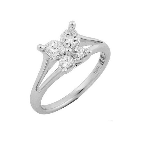 Calla Lily Butterfly Platinum Diamond Matching Pave Wedding Band... ($15,510) ❤ liked on Polyvore