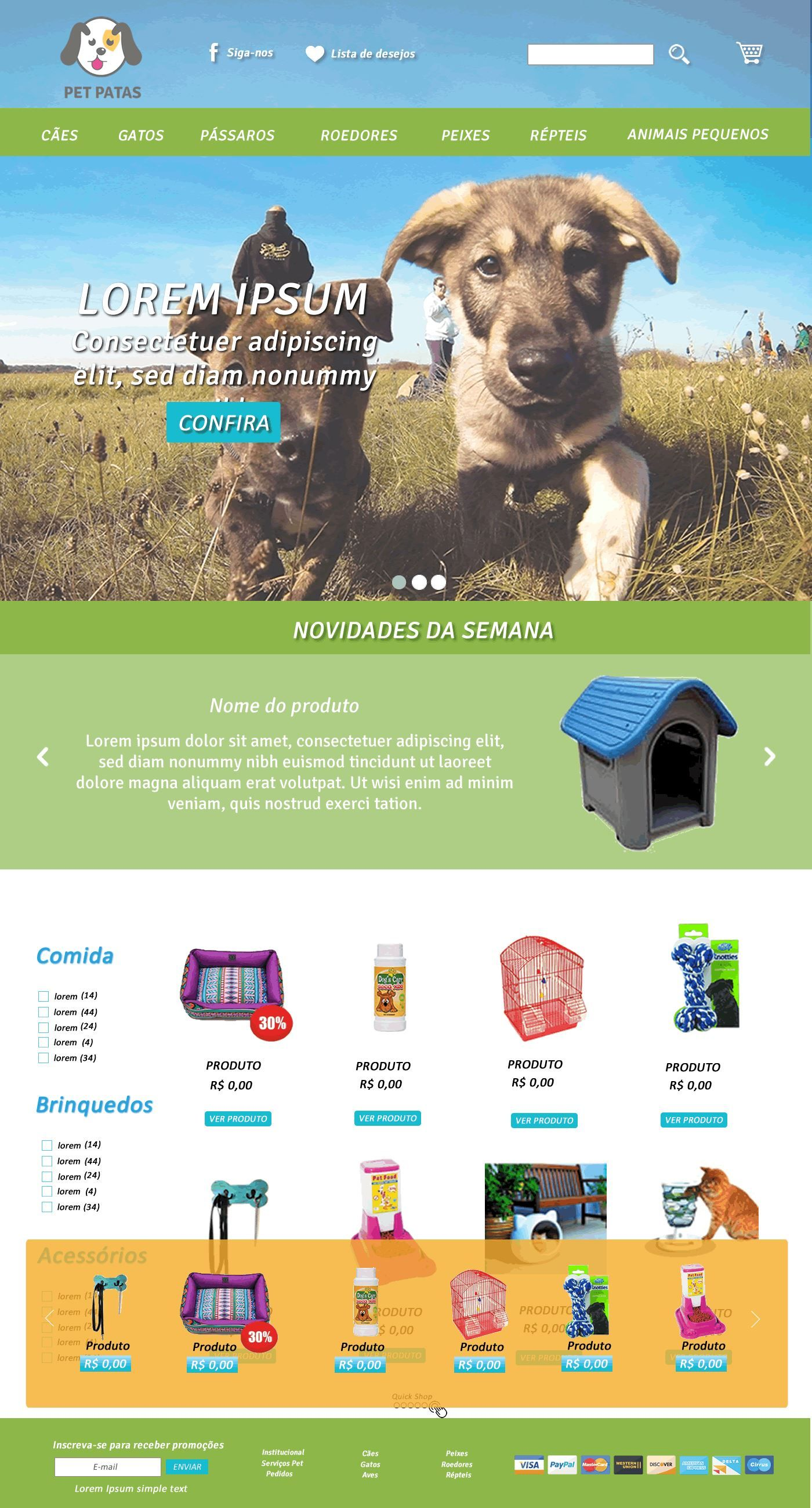 Layout Pet Shop Store Online Layout Web Pet Shop Dog And Cat Toys For Pets Pet Store Pets Online Pet Supplies