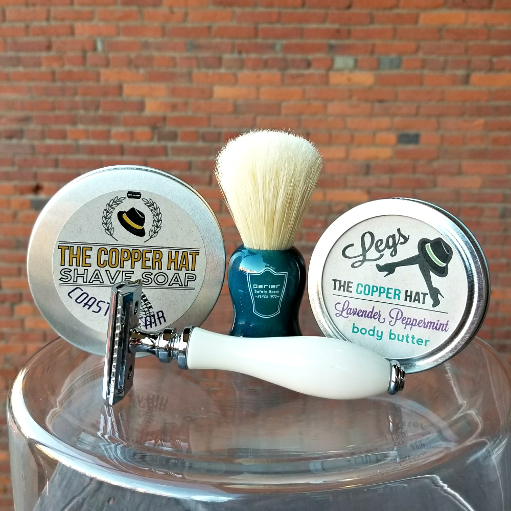 Customize your deluxe wet shaving set with badger hair