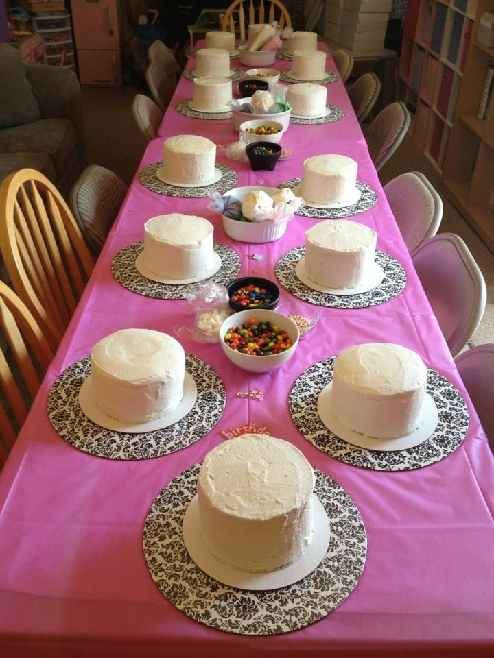 Cake Decorating Birthday Party Of My Dreams If You Have Candy Suggestions Leave Them Be Cupcake Decorating Party Cake Decorating Party Baking Birthday Parties