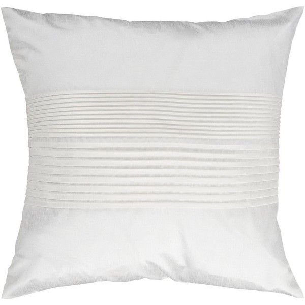 Decor 140 Prex Decorative Pillow ($40) ❤ liked on Polyvore featuring home, home decor, throw pillows, white, textured throw pillows, striped throw pillows, white toss pillows, white accent pillows and patterned throw pillows