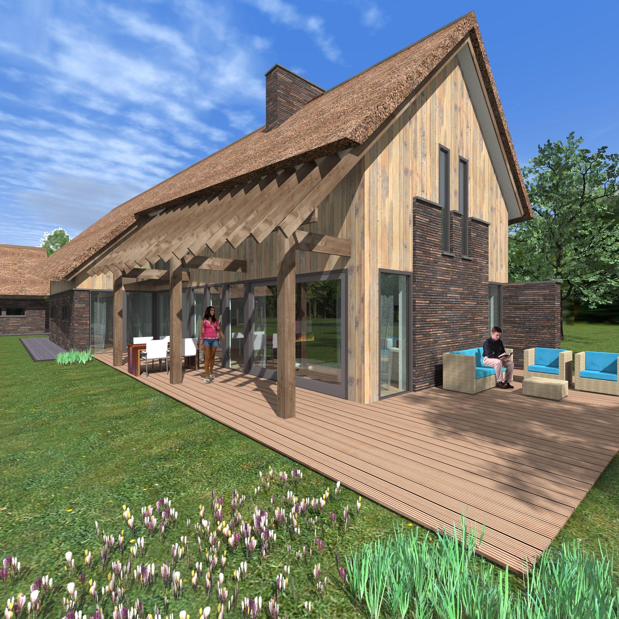 Achterzijde woning landelijke woning landelijke woning for Huizen ideeen