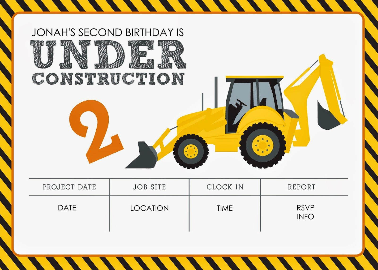 image about Free Printable Construction Birthday Invitations titled Composition Themed Birthday Social gathering Cost-free Printables