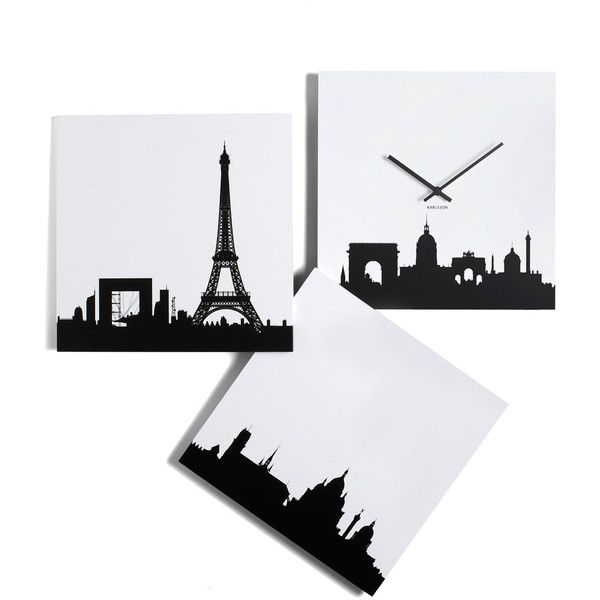 Present Time Paris je Time Wall Clock ($65) ❤ liked on Polyvore