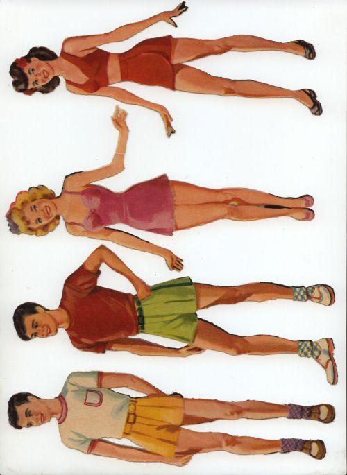 merrill 'first date' paper dolls (bob, steve, judy, joyce)