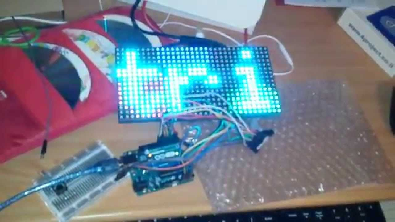 16x32 RGB LED matrix panel driven by Arduino Uno | arduino