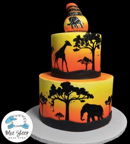 Afrika Kuchen Ideen Silhouette Kuchen Und Cupcake Kuchen