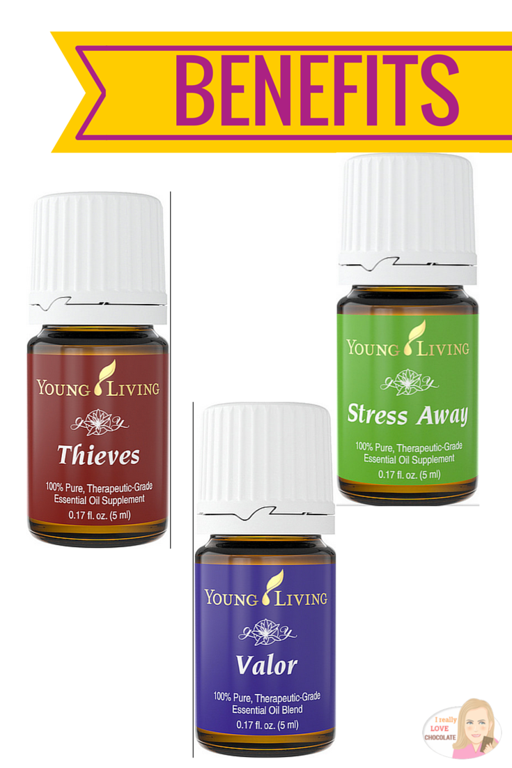 Thieves - Stress Away - Valor - Essential Oils.  Calming, relaxing, headache relief and a million more reasons why these are my favorite 3.  Click on the pic to discover more wonderfully essential oils.  Benefits of Valor essential oil, thieves essential oil, stress away essential oil