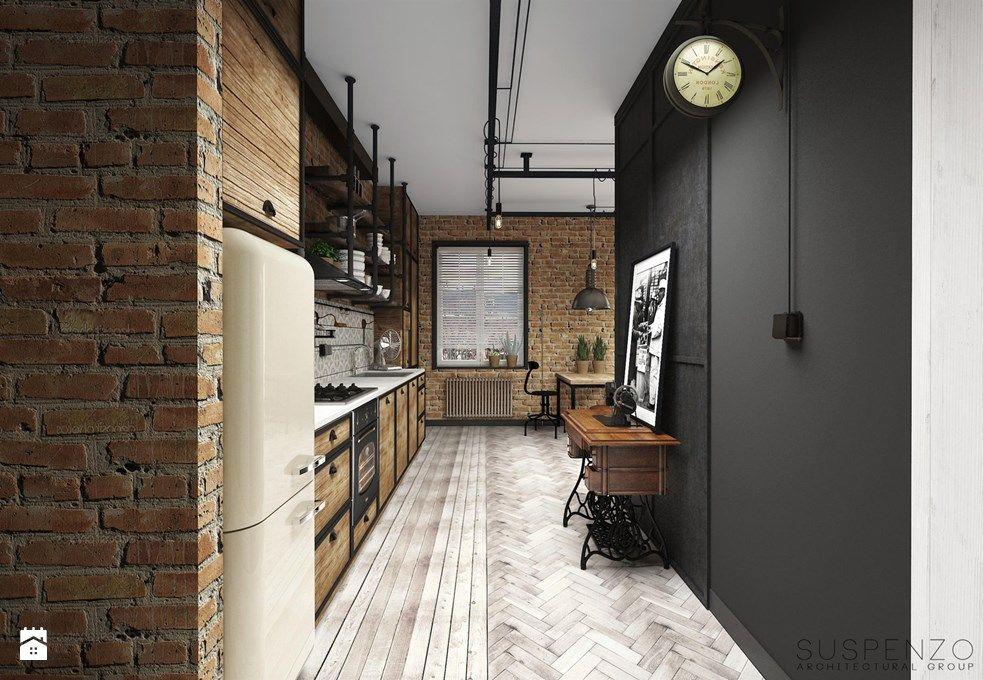 Znalezione Obrazy Dla Zapytania Waska Dluga Kuchnia Loft Interior Design Loft Interiors Architecture
