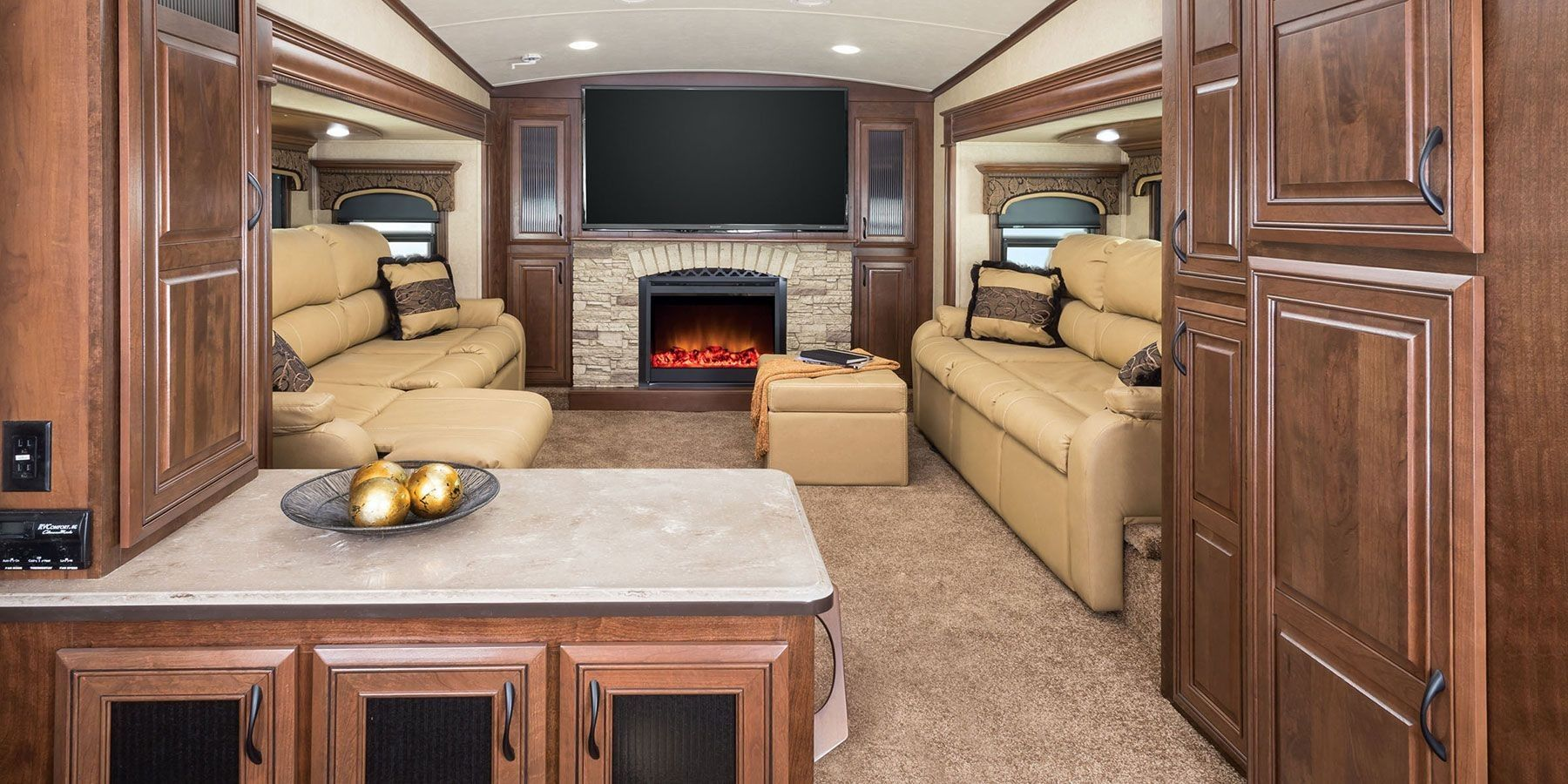 20 Awesome Camper Fireplace Ideas Guide Fifth Wheel
