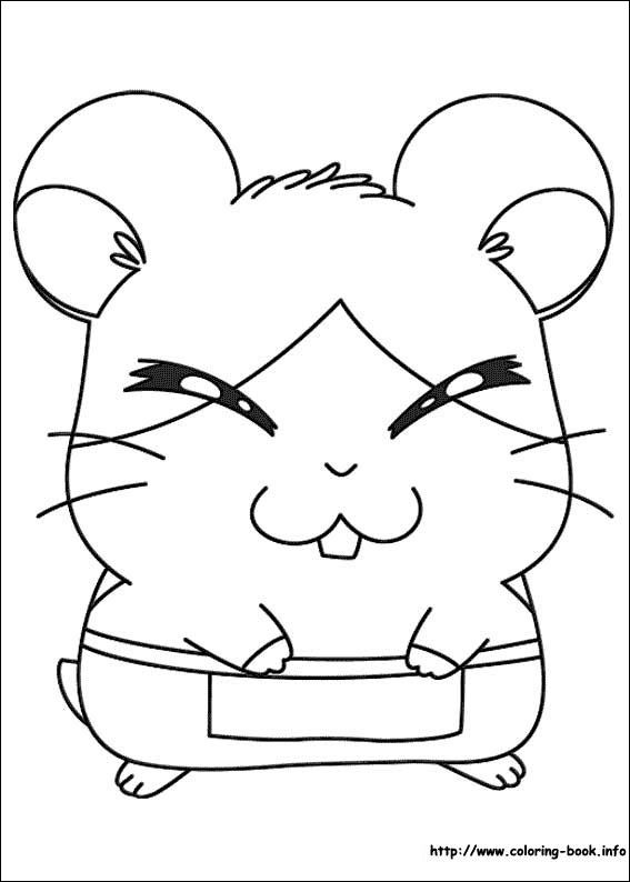 Hamtaro coloring picture | Coloring and Activities | Pinterest | Hamtaro