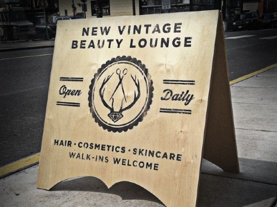 Vintage Painted Signs Beauty Parlor