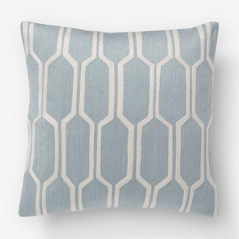 honeycomb crewel pillow insert west elm 18 square pillow insert want bedroom. Black Bedroom Furniture Sets. Home Design Ideas
