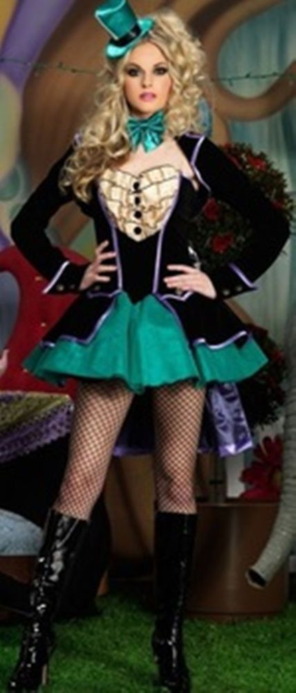 Sexy Fantasy Mad Hatter Wonderland Outfit Adult Women's Halloween Costume NEW #LegAvenue #Dress